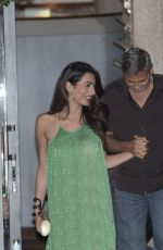 AMAL and George CLOONEY Out for Dinner at Harry