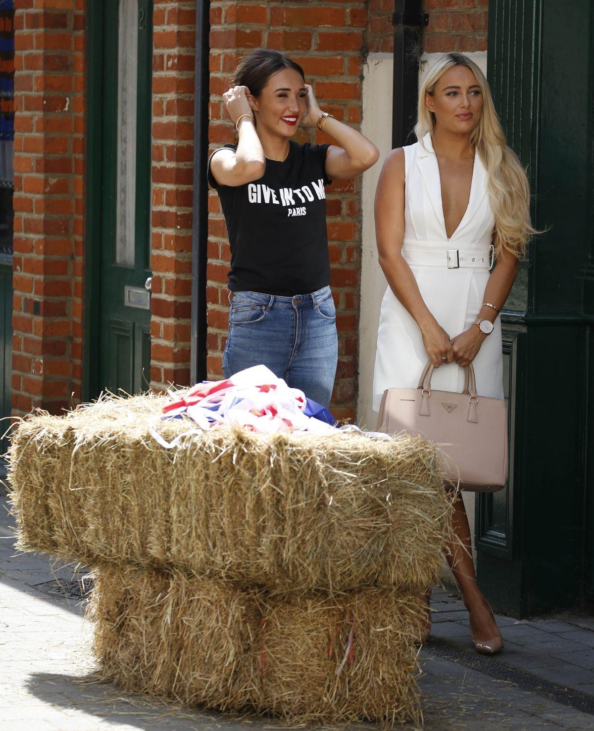 AMBER TURNER and MEGAN MCKENNA at Gemma Collins Shop in Essex 08/28/2017