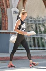 AMBER VALLETTA in Tights Out in Brentwood 08/28/2017