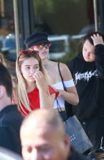AMELIA and DELILAH HAMLIN Out for Lunch at Il Pastaio in Beverly Hills 08/19/2017