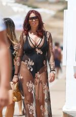 AMY CHILDS in Swimsuit Out in Ibiza 08/10/2017