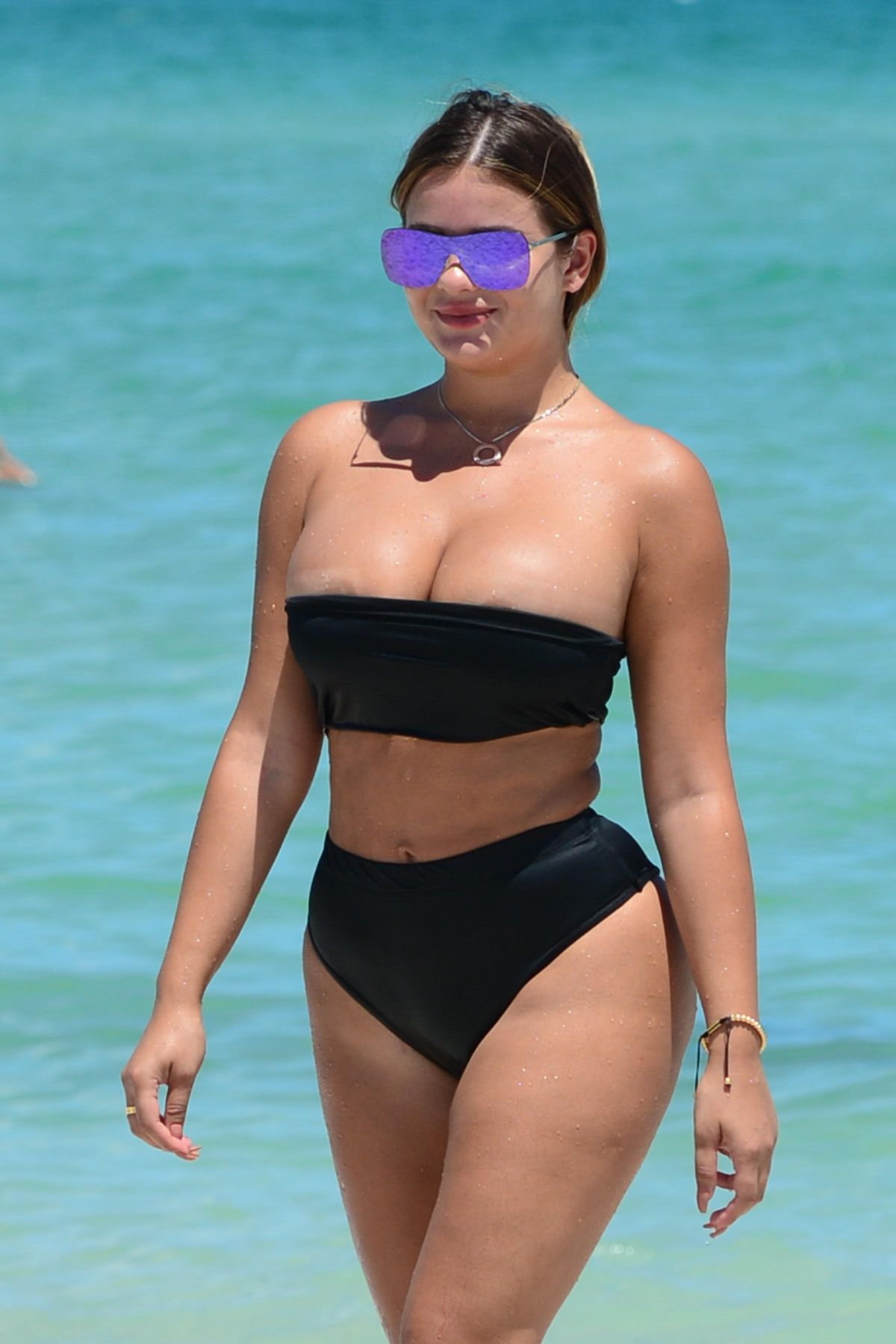 ANASTASIA KVITKO in Bikini at a Beach in Miami 08/14/2017
