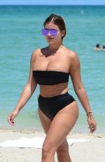 ANASTASIA KVITKO in Bikini at a Beach in Miami 08/14/2017