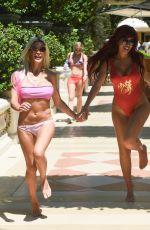 ANGELIQUE FRENCHY MORGAN and FARRAH ABRAHAM at a Pool in Las Vegas 08/05/2017