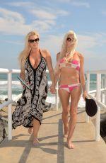 ANGELIQUE FRENCHY MORGAN and SUZIE MALONE Play Paddleball at Malibu Beach 08/29/2017