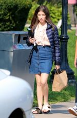 ANNA KENDRICK on the Set of A Simple Favor in Toronto 08/16/2017