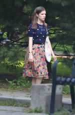 ANNA KENDRICK on the Set of A Simple Favor in Toronto 08/17/2017