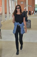ANNA MOUGLALIS and Vincent Raes at Airport in Venice 08/29/2017