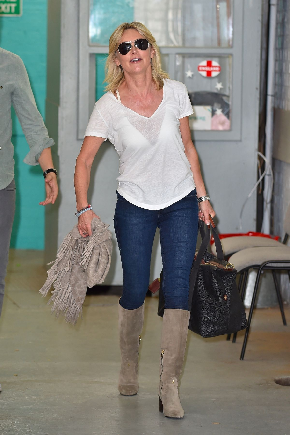 ANTHEA TURNER at ITV Studio in London 08/15/2017