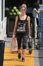 ASHLEY GREENE in Tights at a Gas Station in Beverly Hills 08/05/2017