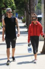 ASHLEY TISDALE Heading to a Gym in Studio City 08/14/2017