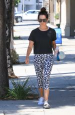ASHLEY TISDALE in Leggings Heading to a Gym in Studio City 08/07/2017
