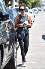 ASHLEY TISDALE Leaves a Gym in Studio City 08/18/2017