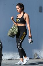 ASHLEY TISDALE Leaves Rise Nation in Los Angeles 08/30/2017