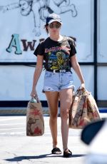 ASHLEY TISDALE Out Shopping in Los Angeles 08/19/2017