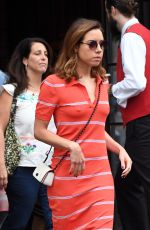 AUBREY PLAZA Leaves Her Hotel in New York 08/07/2017
