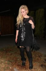 AVRIL LAVIGNE Leaves Nice Guy in West Hollywood 08/04/2017