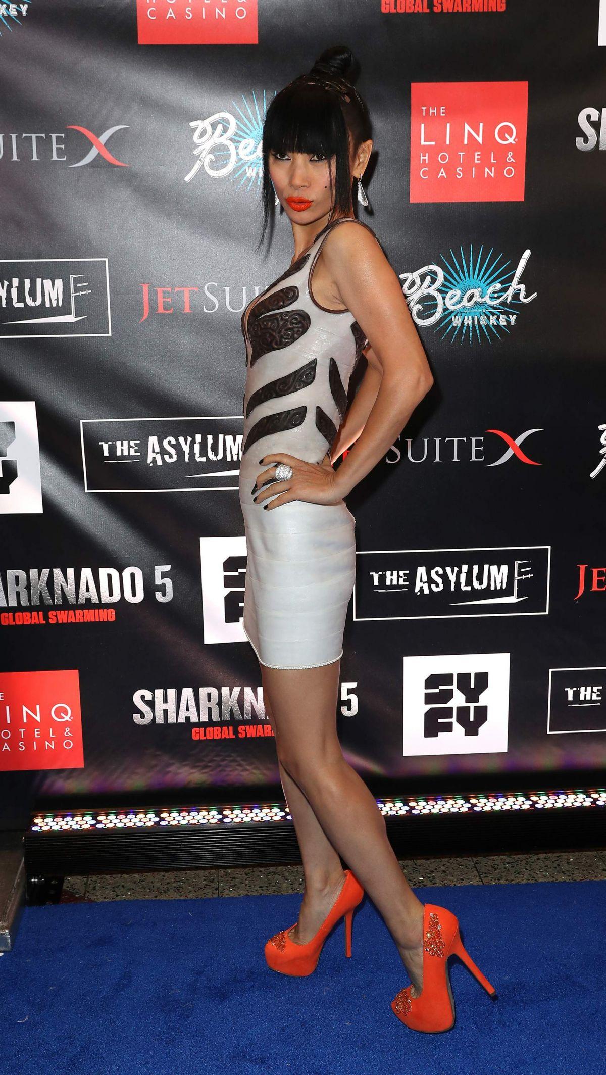 bai ling at sharknado 5  global swarming premiere in las vegas 08  06  2017