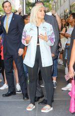 BEBE RAXHA Leaves Tonight Show Starring Jimmy Fallon in New York 08/04/2017
