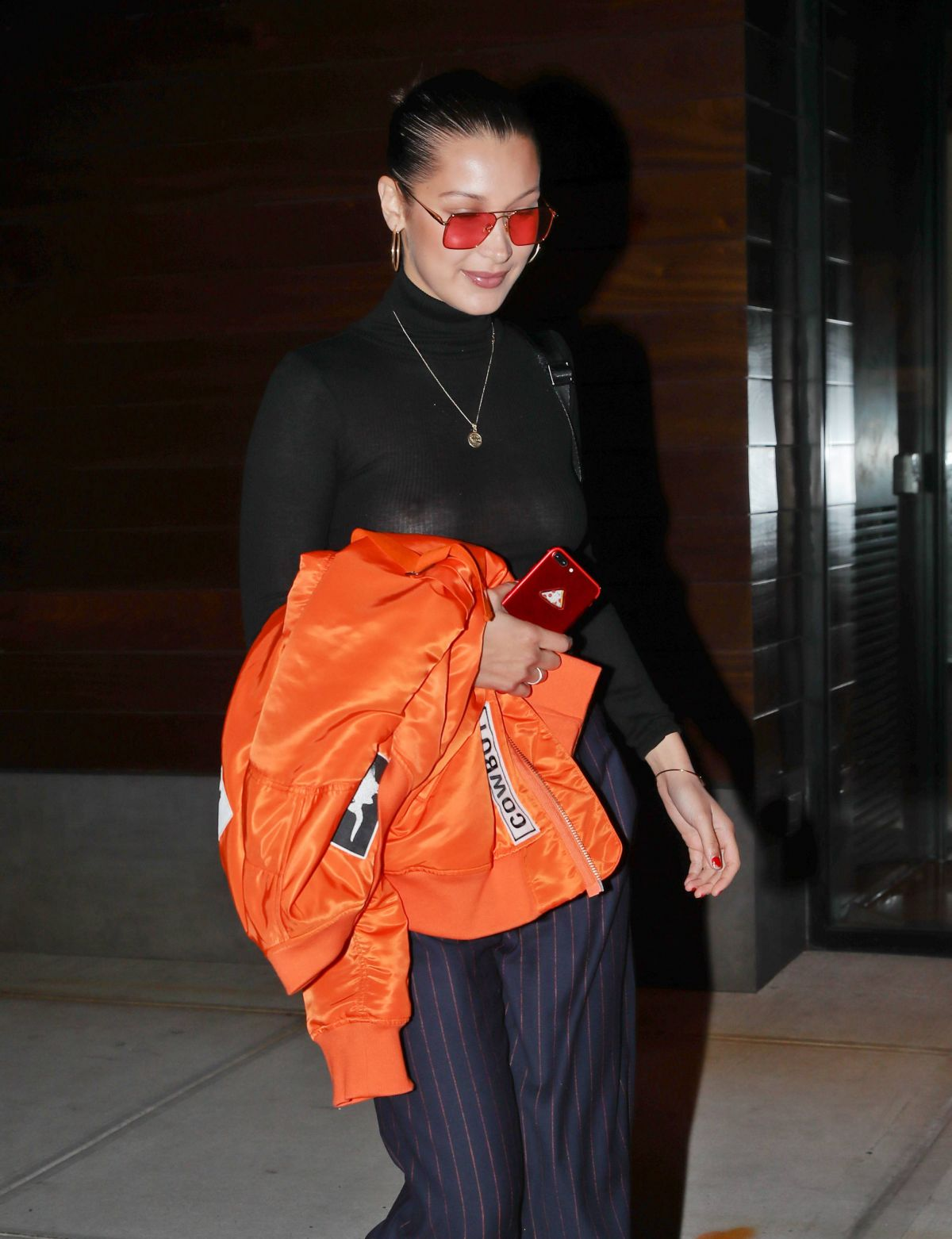 BELLA HADID Night Out in New York 07/29/2017