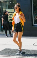 BELLA HADID Out and About in New York 08/23/2017