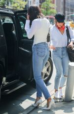 BELLA HADID Out and About in New York 08/26/2017