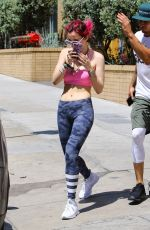 BELLA THORNE Heading to a Pilates Class in Los Angeles 08/10/2017