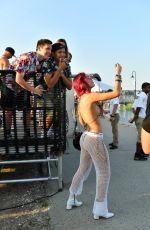 BELLA THORNE in Bikini Top and Mesh Pants at 2017 Billboard Hot 100 Festival in Wantagh 08/19/2017