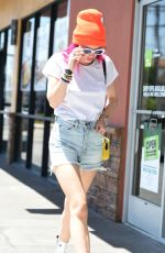 BELLA THORNE in Denim SHorts Out in Los Angeles 08/09/2017
