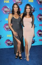 BRIE and NIKKI BELLA at 2017 Teen Choice Awards in Los Angeles 08/13/2017