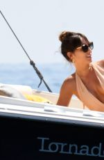 BRITTNY WARD in Bikini on Vacation in Italy 08/08/2017