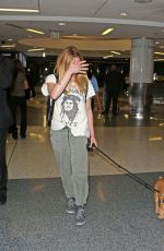 CAITY LOTZ with Her Dog at LAX Airport in Los Angeles 08/01/2017