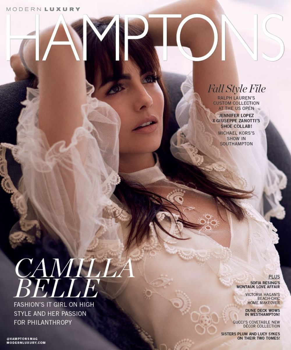 CAMILLA BELLE for Hamptons Magazine