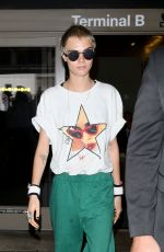 CARA DELEVINGNE at LAX Airport in Los Angeles 08/28/2017