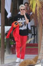 CARA DELEVINGNE Celebrates Her 25th Birthday in Cancun 08/08/2017