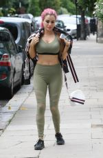 CARLA HOWE in Tights Out and About in London 08/05/2017