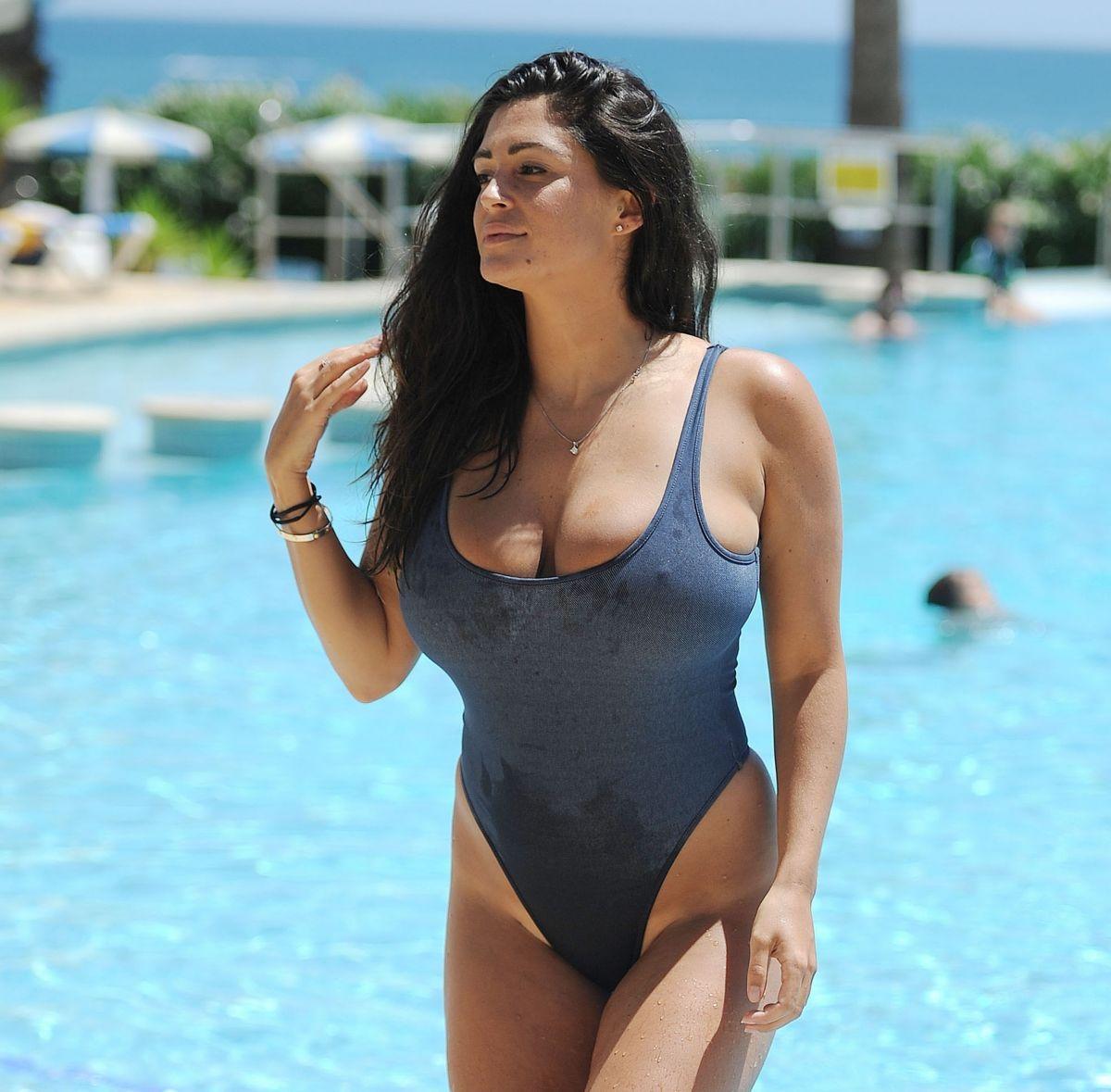 CASEY BATCHELOR in Bikini ata Pool in Portugal 08/15/2017