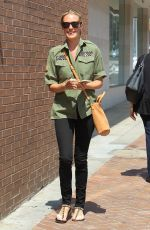 CAT DEELEY Leaves a Nail Salon in Beverly Hills 08/21/2017