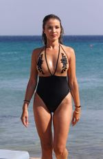 CATARINA SIKINIOTIS in Swimsuit at a Beach in Mykonos 08/16/2017
