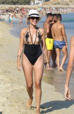 CATARINA SIKINIOTIS in Swimsuit at a Beach in Mykonos 08/16/2017