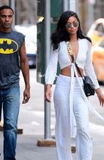 CHANEL IMAN Out and About in New York 08/19/2017