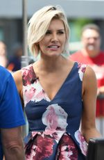CHARISSA THOMPSON on the Set of Extra in Los Angeles 08/11/2017