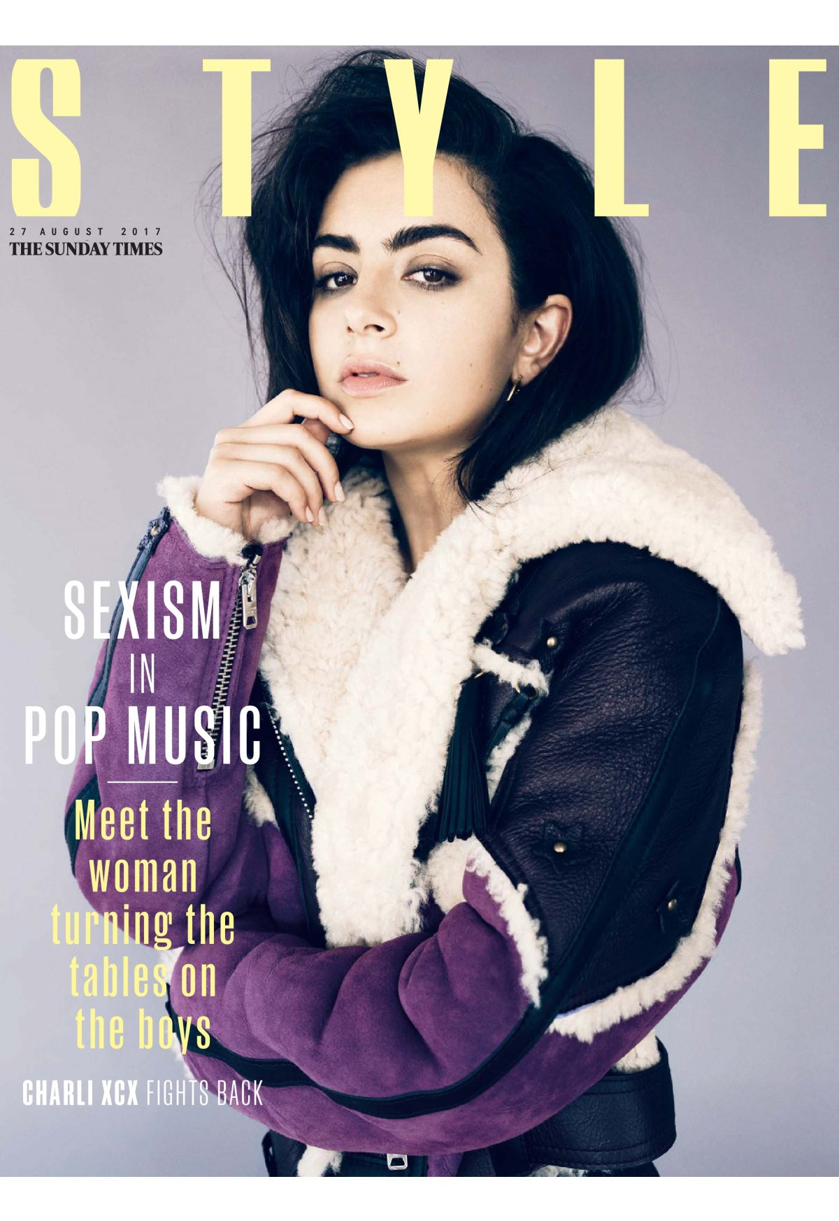 CHARLI XCX at Sunday Times Style Magazine, August 2017