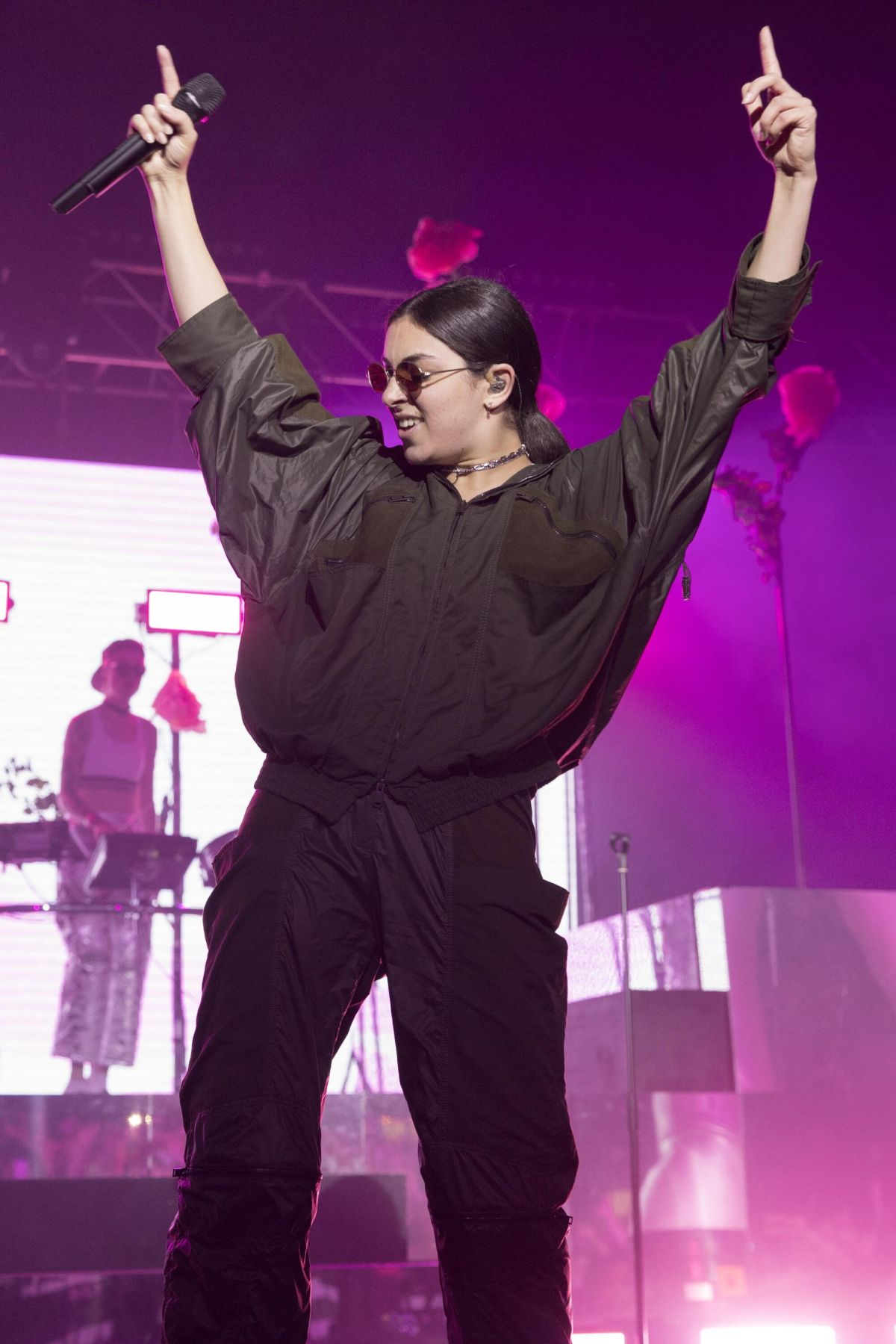 CHARLI XCX Performs at Leeds Festival in Bramham Park 08/25/2017
