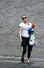 CHARLIZE THERON Leaves a Gym in Los Angeles 08/22/2017