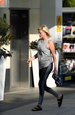 CHARLIZE THERON Leaves Soul Cycle in Los Angeles 08/30/2017
