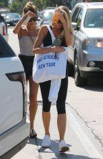 CHARLOTTE MCKINNEY in Leggings Out in Los Angeles 08/08/2017