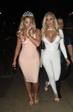 CHLOE FERRY in Tight Dress Night Out in Manchester 08/27/2017