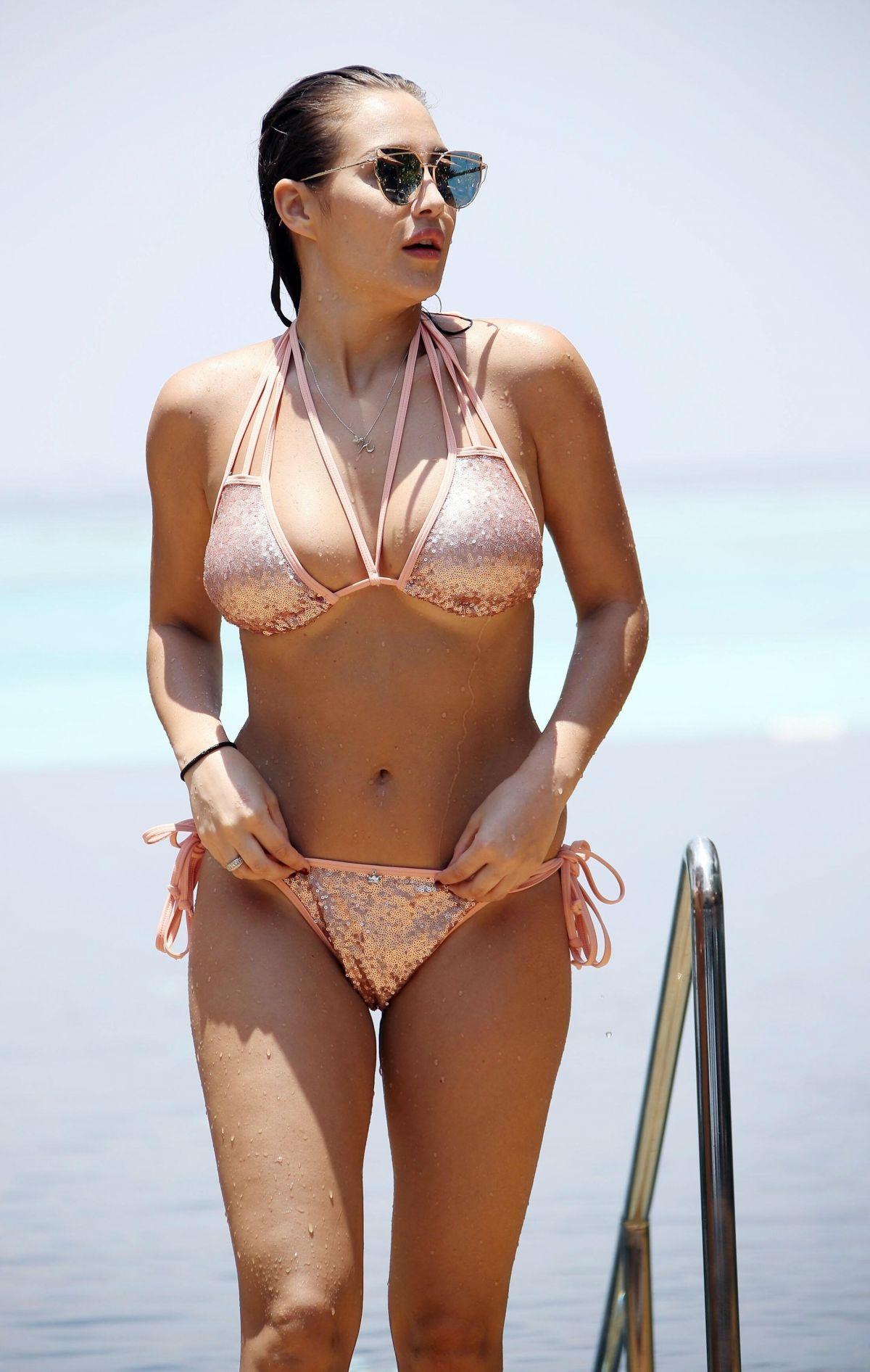 CHLOE GOODMAN in Bikini at a Beach in Barbados 08/09/2017