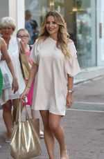 CHLOE SIMS, AMBER DOWDING and GEORGIA KOUSOULOU at The Only Way is Essex Set in Marbella 08/10/2017